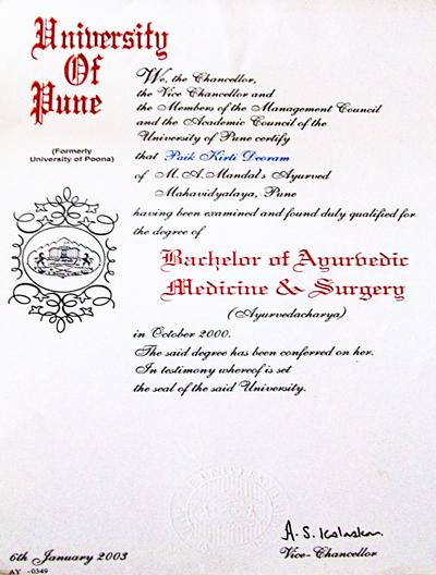 Dr. Kirti